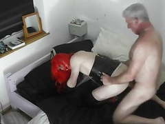 Old daddy is rimming a latex dominated granny tranny movies at kilomatures.com