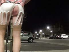 Transvestite sissy walks around the city at night and dildos movies at find-best-pussy.com