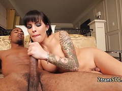 Tgirl fucked and facialized by black cock movies at freekilosex.com