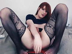 Hot shemale rides dildo movies at find-best-pussy.com