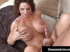 Mature muff deauxma fucks & milks younger man's hard cock! movies at find-best-videos.com