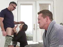 Busty brunette cucks her husband with her boyfriend movies at kilovideos.com