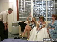 Handsome daddy in suit being jerked off on wedding day movies at find-best-babes.com