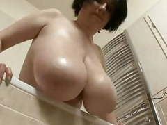 Filming mom taking shower movies at find-best-panties.com
