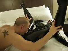 Passionate latex catsuit fucking movies at freekiloclips.com