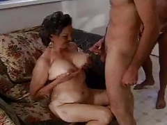 Old granny and two men movies at freekiloclips.com