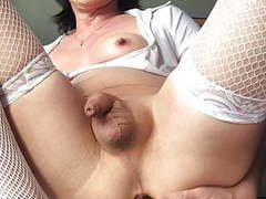Vicky toys her sissycunt movies at kilomatures.com