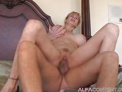 Busty blonde milf gets fucked and jizzed on movies at dailyadult.info
