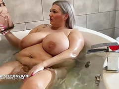 Simone stephens huge tits and belly bath videos