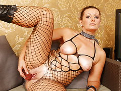 Euro milf mia gets naughty in leather dress and boots videos