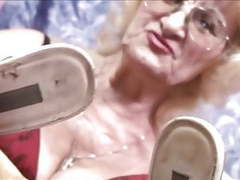 Blonde granny and her smelly shoes..mp4 movies at dailyadult.info