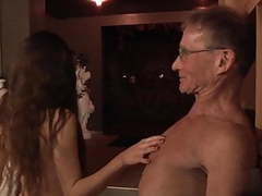 Oldman john fuck beautiful girl2 videos