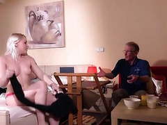 Oldman john fuck beautiful blonde from room service videos