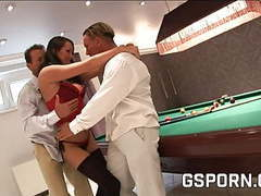 The slut and the billiards, double vaginal fuck videos