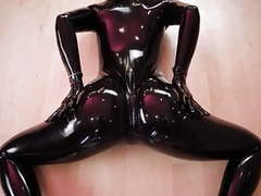 Latex fetish yoga movies at freekiloclips.com
