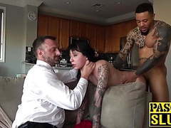 Submissive darker woman brutally banged by two dominant guys movies