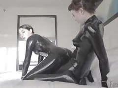 Lesbians in black latex fuck with strap on movies at find-best-ass.com
