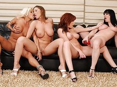 Hot dyke, devon le had a wild foursome with busty gals movies at find-best-babes.com