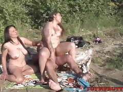 Gypsy famely on nude beach videos