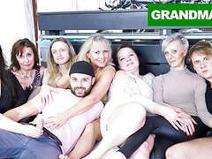 Insane granny orgy will make your cock hard af! videos