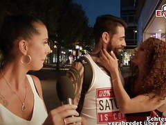 German casting for cuckold on street with couple in public movies at freekiloclips.com