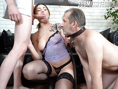 Young dominant wife and elderly cuckold movies at freekiloclips.com