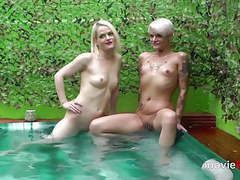 Outdoor gangbang in a pool with lola devil und alexa gold videos