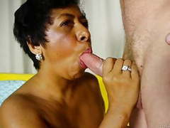 Mature black lady loves sucking and fucking for a facial tubes