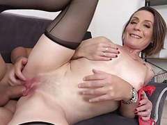 Naughty mom ania gets young cock in all holes movies at freekiloporn.com