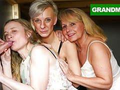 Triple blonde granny orgy videos