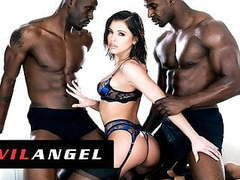 Evilangel -  adriana chechik squirts while drilled by 2 bbcs videos