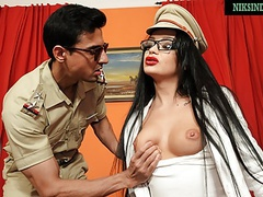 Indian girl swallows officer's cum after pussy and anal sex movies at find-best-videos.com