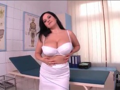 Sexy nurse has incredible big tits videos