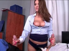 Business slut sucks two coworkers videos