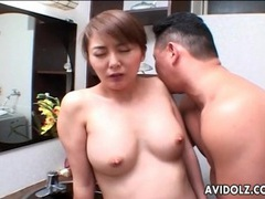 Hairy japanese milf pussy licked in bathroom videos