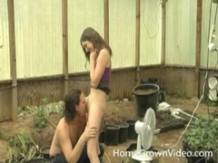Couple in the garden has hot oral sex videos