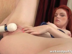 Redhead masturbates with her vibrator videos
