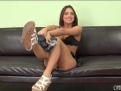 Sara luv looks hot in a little black bra videos