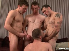Three gay boys blown by a sexy bottom videos