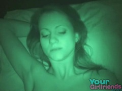 Night vision fuck with his sexy slim gf videos