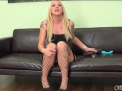 Blonde pornstar leya falcon in sexy fishnets videos