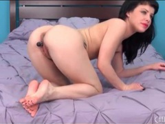 Little black dildo turns on katie st ives videos