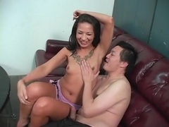 Asian guy licks her armpits with passion tubes at find-best-asian.com