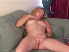 Milf holly jones rubs her tits and pussy videos