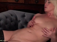 Milf gropes her titties and rubs her pussy movies at kilosex.com