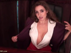 Big tits veronica shaw teases you in her office movies at kilopics.net