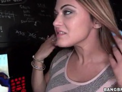 Sexy carmen ross sucks dick at gloryhole videos