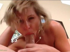 Gagging milf blowjob leaves his dick all wet videos
