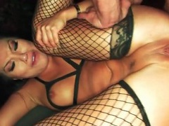 Asian pornstar anal sex in fishnets videos