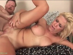 Banging blonde milf makes her tits jiggle movies at lingerie-mania.com